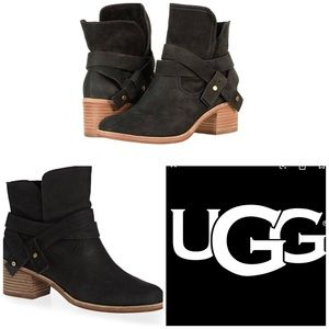 UGG ELORA ANKLE WRAP HEELED BOOTS